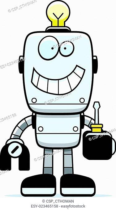 Cartoon Robot Screwdriver