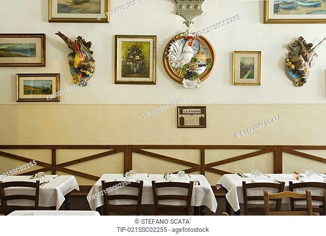 Italy, Tuscany, Florence, Restaurant