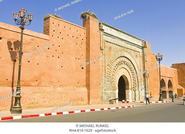 Bab Agnou city gate, Marrakech, Morocco, North Africa, Africa