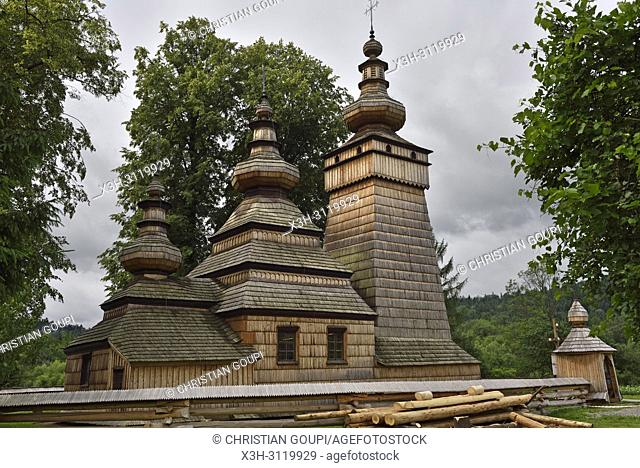 Greek Catholic Parish Church of St. Paraskevi in the village of Kwiaton, commune of Uscie Gorlickie, Gorlice county, Malopolska Province (Lesser Poland), Poland