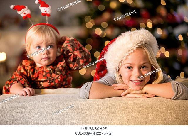 Sisters waiting for Christmas