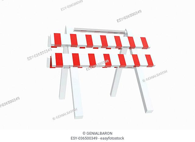 Red and white barrier