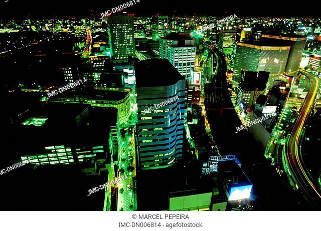 Japan, Tokyo, Shinkuju by night