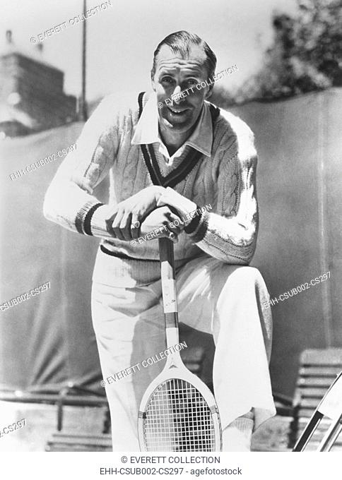 Bill Tilden, former Tennis Champion, ca. 1940. As he phased out of competitive play, he coached and gave private lessons at country clubs in Los Angeles