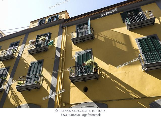 Typical block of flats, Naples, Italy