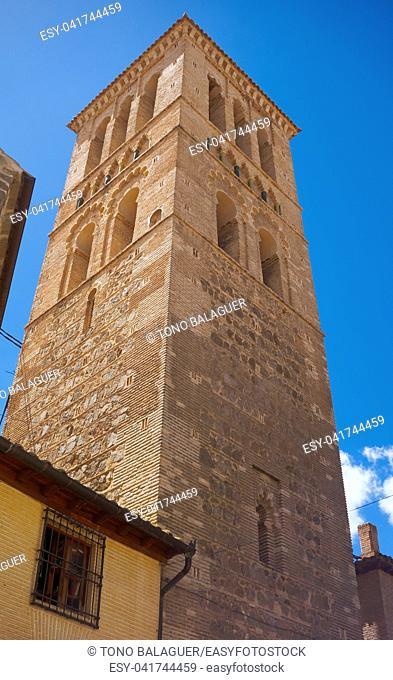 Mosque church of Santo Tome in Toledo at Castile La Mancha of Spain