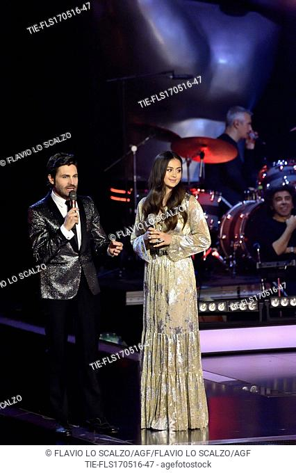 The singer Jasmine Thompson during the tv show The voice of Italy, Milan, ITALY-16-05-2016
