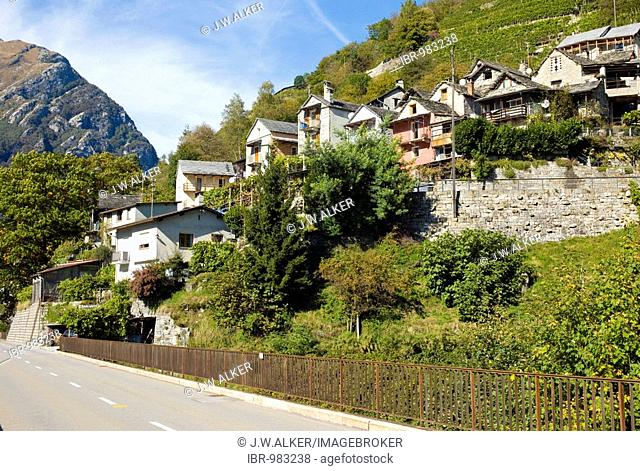 A typical village in the Valle Verzasca, Canton Ticino, Switzerland, Europe