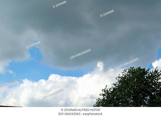 dark and white cloud formations