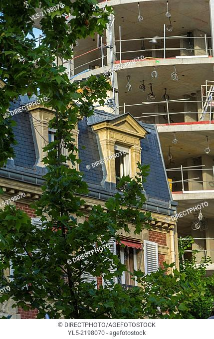 Paris, France, Contrast, Building Construction, Old and New