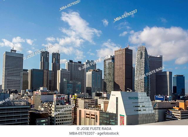 Japan, Tokyo City, Shinjuku District Skyline