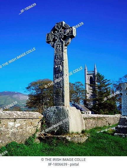 High Cross and Drumcliffe Church, Co Sligo, Ireland