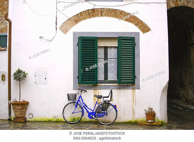 Bicycle, Lucca, Tuscany, Italy, Europe