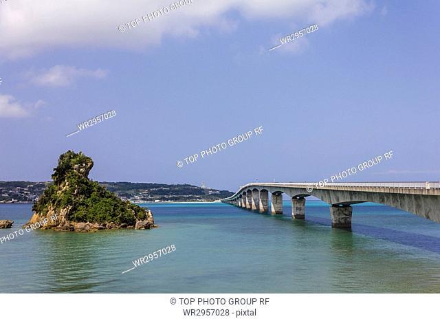 Kouri bridge in Okinawa, Japan