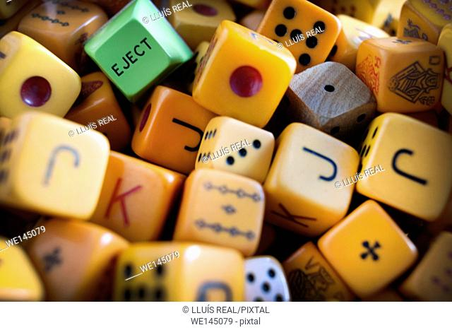Eject, dados, as, suerte, juego, Eject, craps, as luck game