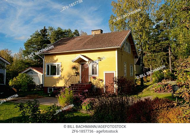 Parainer Pargas Finland beautiful homes in sunshine colorful houses