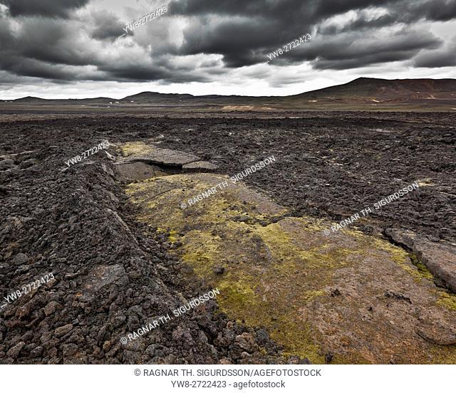Lava fields, Leirhnukur hot spring area, near the Krafla Volcano, Northern Iceland