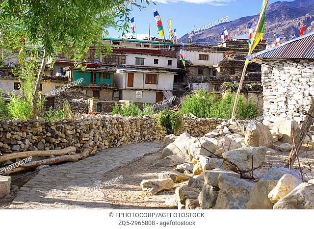 Village of Gue, Spiti, Shimla, India