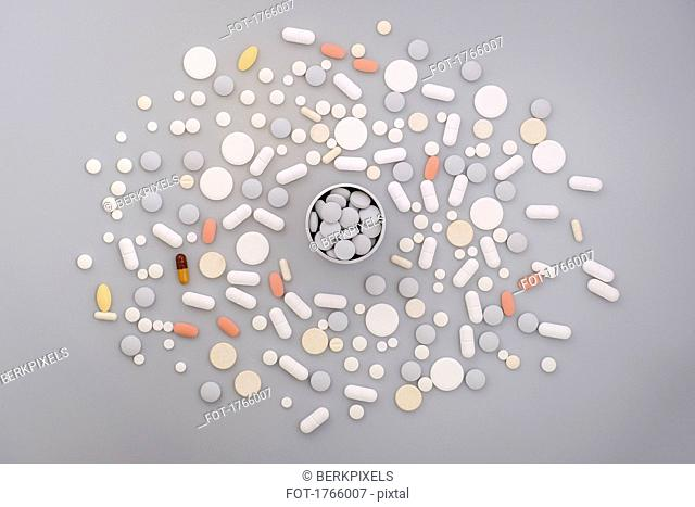 Abundance of various pills