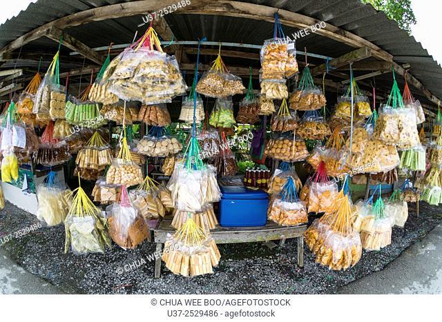 Hawker stalls in Lundu, Sarawak, Malaysia