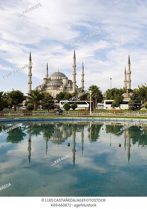 The Blue Mosque (Sultan Ahmet Camii). Istanbul. Turkey
