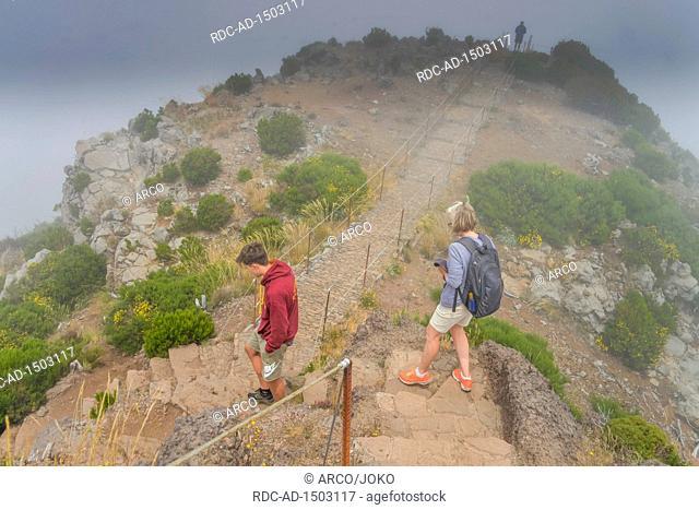 Wanderung zum Pico Ruivo, Zentralgebirge, Madeira, Portugal