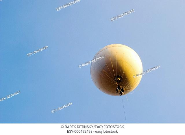transportation - couple flying in a hellium filled balloon
