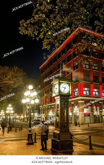 The Gastown Steam Clock, Vancouver, British Columbia, Canada
