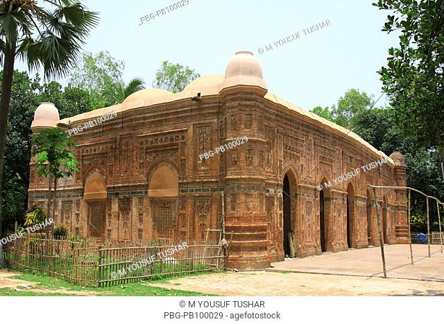 The Bagha Mosque, at Bagha union, about 25 miles southeast of Rajshahi town This brick built mosque, now a protected monument of the Department of Archaeology