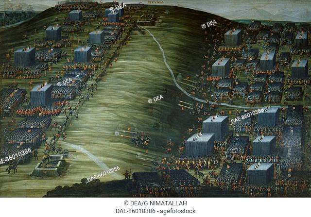 The battle of Weissemberg, November 8, 1620. Church of Santa Maria della Vittoria, Rome. Thirty Years' War, Germany, 17th century