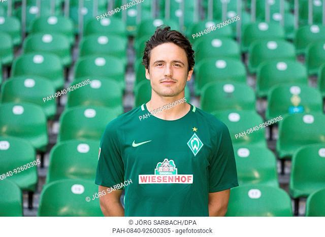 German Bundesliga, official photocall Werder Bremen for season 2017/18 in Bremen, Germany: Thomas Delaney. | usage worldwide. - Bremen/Bremen/Germany