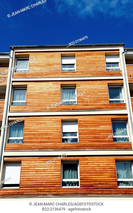Wooden facades, Limoges, Haute-Vienne, Limousin, France