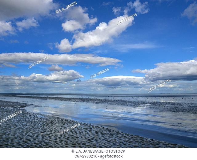 A view across the Solway Firth towards the Lake District taken Rockcliffe Dumfries