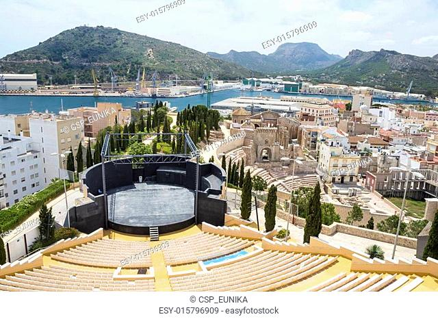 Panorama of Cartagena, Spain