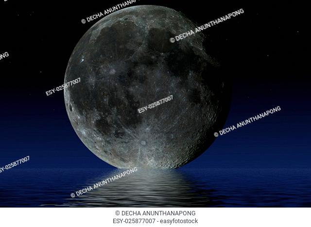 Planet Moon. Elements of the furnished by NASA
