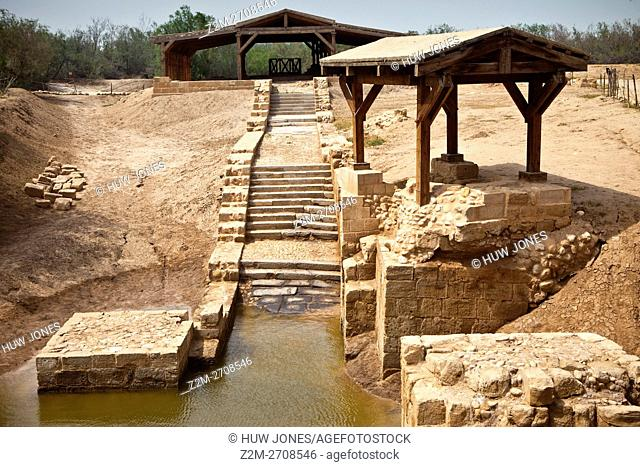 """""""""""The Chapels"""" Baptism site, Bethany beyond The Jordan River, Jordan, Western Asia"