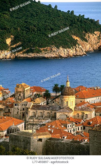 Dubrovnik and Lokrum Island. Dalmatia. Croatia