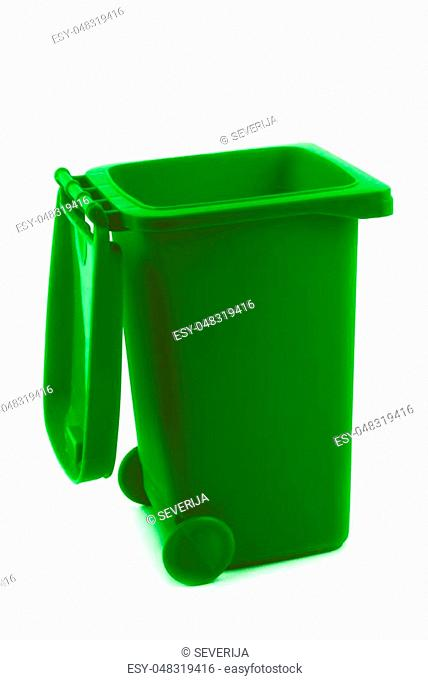 rubbish litter bin isolated on white