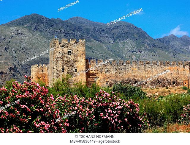 Crete, fortress Frangokastello on the south coast of the Mediterranean island