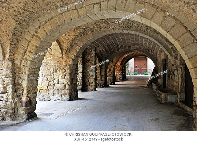 Peratallada, small fortified medieval town in the municipality of Forallac Province of Girona Autonomous community of Catalonia, Spain, Europe