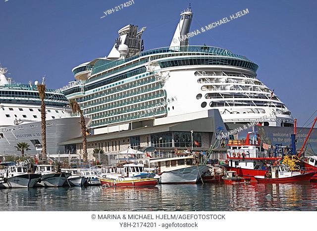Cruiser Splendour of the Seas and Cruiser Navigator of the Seas; Kusadasi, Turkey