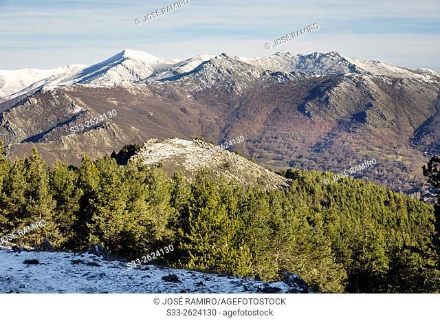 Sierra de Ayllon from Bañaderos peak in Montejo de la Sierra. Madrid. Spain. Europe