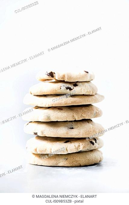 Studio shot, stack of dried fruit flat breads