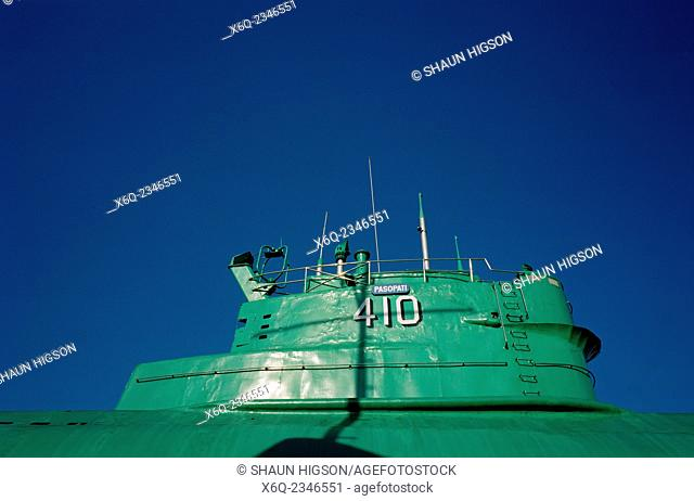 The Submarine Museum Monkasel in Surabaya in Java in Indonesia in Southeast Asia Far East