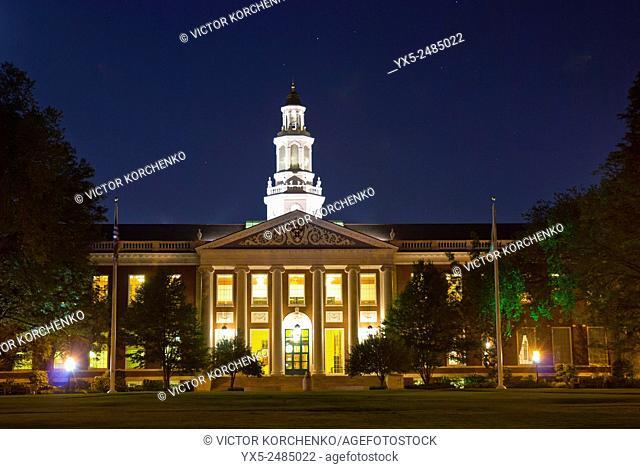 Baker Library of Harvard Business School. Boston, MA