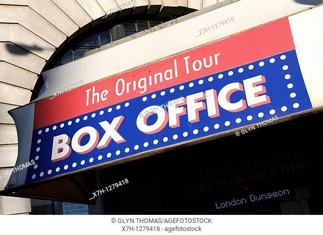 The Original London Bus Tour box office, Baker Street