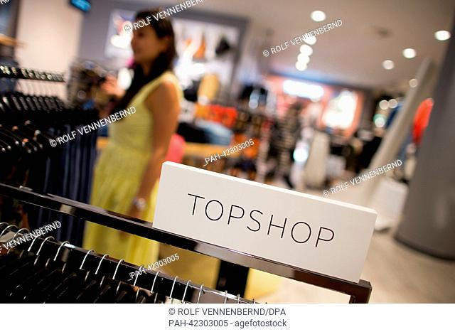 The new brand Topshop from London is presented at a newly renovated Karstadt shop in Duesseldorf, Germany, 04 September 2013