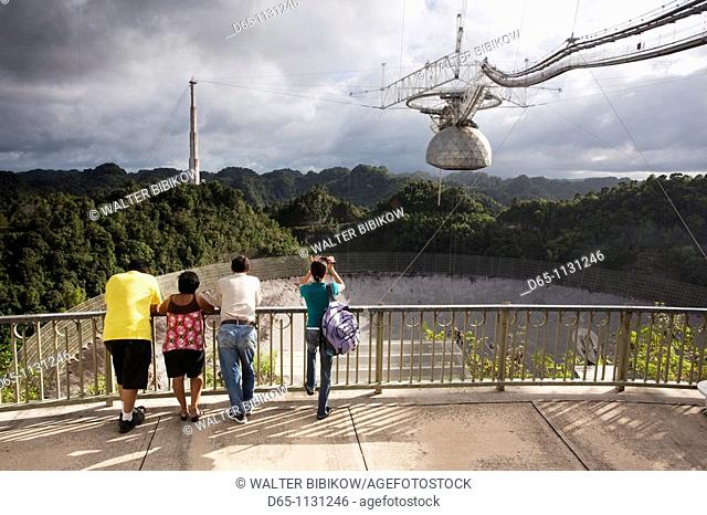 Puerto Rico, North Coast, Arecibo, Arecibo Observatory, world's largest radio telescope, visitors, NR