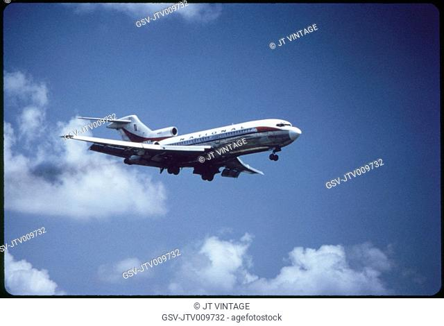 National Airlines, Boeing, 727-35 Commercial Jet In-Flight, 1960's