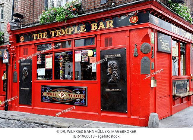 The Temple Bar, Crown Alley, Dublin, Republic of Ireland, Europe